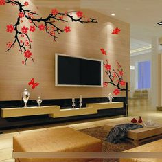 Blossom Flower Tree Home Decor Livingroom Removable Wall Sticker Art Mural Decal