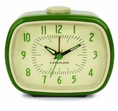 Retro Alarm Clock, Green. #decor (ref link)