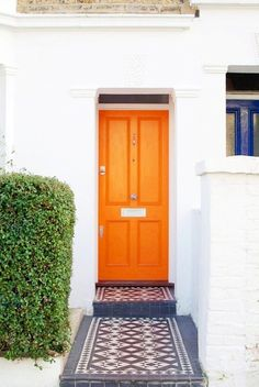 colorful front entry