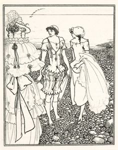 Aubrey Beardsley (1872-1898). (1872-1898) 'The Bathers' from 'The Savoy: An illustrated Quartely', 1896