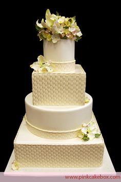 Basketweave Wedding Cake   http://blog.pinkcakebox.com/basketweave-wedding-cake-2009-08-08.htm
