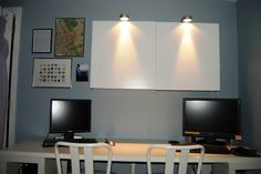 Workspace Storage And Organization, Super Simple Light Installation.