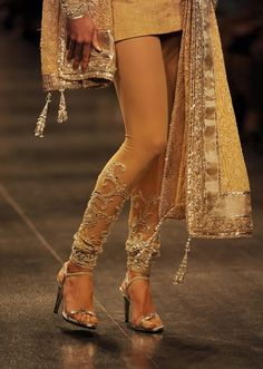 "neeta lulla, love the bottoms of these ""churidar"", if you can ever call them that."
