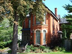 Aberdeen Section of Hamilton, Ontario, Canada. Old Victorian Brick Homes.