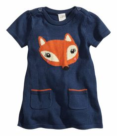 knit. baby. fox. fall. dress. hm. cute. clothes. sweet. girl. kids. fun.