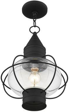 Livex Newburyport 1-Light Black Outdoor Chain Lantern