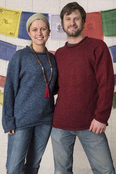 Alpaca Knit Roll Neck Sweater