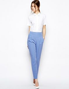 ASOS Trousers with High Waist and Notch Detail