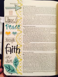 Romans 5 in Journaling Bible