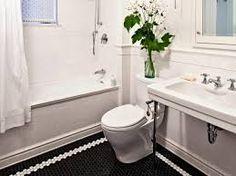 Image result for black and white patterned bathroom tiles