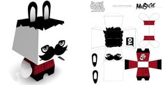 Pepetz Moustache by ADMSXT | Paper Toy (The Paper Toys Coop)
