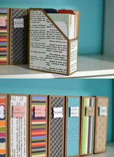 Papieren sorteren en opbergen / administratie op orde met tijdschriftbakken.
