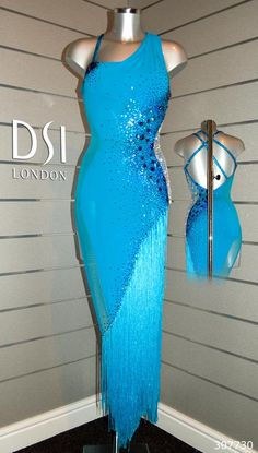 Natalie Lowe turquoise Latin dress