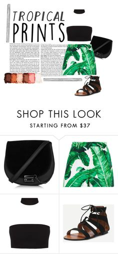 """Tropical Prints"" by littleredskirt ❤ liked on Polyvore featuring Dolce&Gabbana, NYX, Polaroid, contest, tropicalprints and hottropics"