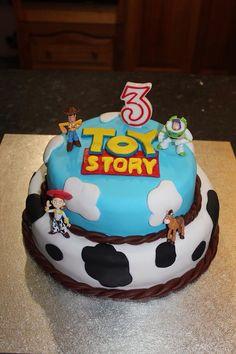 My sons 3rd birthday cake - Toy Story