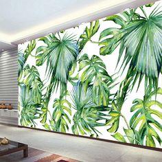 Southeast Asia Tropical Rain Forest Fresh Green Banana Leaf Photo Wallpaper Restaurant Clubs KTV Modern Creative 3D Murals Decor