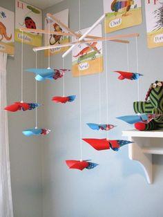 Pinwheel Mobile - esp with superhero nursery