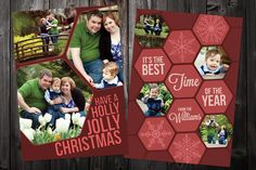 Check out Hex: 5x7 Xmas Card Template by Saunter Studios on Creative Market