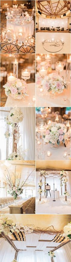 blush and ivory wedding ideas /  / http://www.deerpearlflowers.com/top-5-romantic-fairytale-wedding-theme-ideas/3/