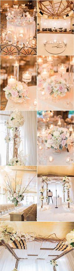 blush and ivory wedding ideas /  / http://www.deerpearlflowers.com/top-5-romantic-fairytale-wedding-theme-ideas/3/