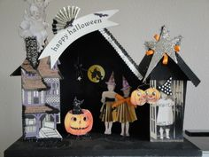 Vintage Style Halloween Putz House
