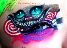 More Alice in Wonderland makeup art