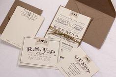 Vintage Wedding Invitation Suite by AMGDesignCo on Etsy, $3.95