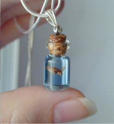 Fish in a cork bottle around your neck!
