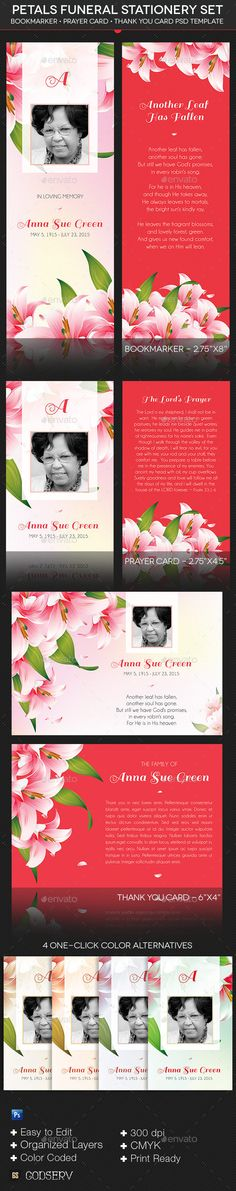 Legacy Funeral Stationery Template Set | Stationery templates ...