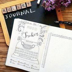 """99 Likes, 6 Comments - Violette.Bujo (@violette.bujo) on Instagram: """"[Mood Tracker] Mon Tracker de Juin a trouvé sa place dans mon Bullet Journal ✒ Une touche colorée…"""""""