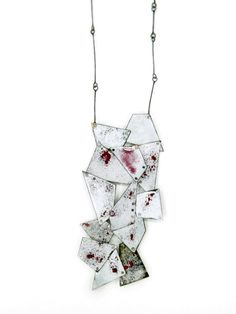 Galit Barak Pendant: Fragments 2013 Copper, sterling silver, enamel, steel screws 60 x 7 cm