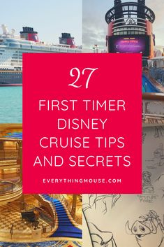 Disney Cruise Tips for if you are sailing on your very first Disney Cruise. If you have booked your Disney Dream Cruise you are in for the vacation of a lifetime! Join us here for all the Disney Cruise Secrets and Hacks for your first time!