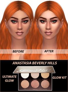"""simshallow: """" ANASTASIA BEVERLY HILLS ULTIMATE GLOW - For Females; - 6 colors - Teen/Young Adult/Adult/Elder; - Custom thumbnail; - Smooth texture. Download at our website! - Lyla """""""