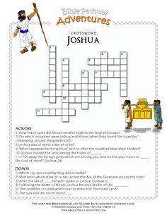 Bible Crossword Puzzle: Joshua | Free Download