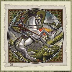 St George and the dragon | St George Slaying The Dragon