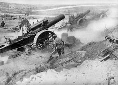 British batteries pounding the German lines - 1917  International Film Service
