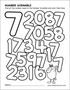 scrambled Numbers coloring worksheet MATHEMATIC HISTORY Mathematics is among the oldest sciences in human history. Preschool Number Worksheets, Numbers Kindergarten, Numbers Preschool, Learning Numbers, Preschool Curriculum, Preschool Math, Kindergarten Worksheets, Math Activities, Maths