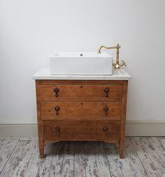 Painted Furniture Commissions in Burton, Derby & Staffordshire Cloakroom Sink, Bathroom Sink Cabinets, Diy Bathroom Vanity, Vanity Sink, Toilet And Sink Unit, Toilet Sink, Upstairs Bathrooms, Downstairs Bathroom, Bad Inspiration