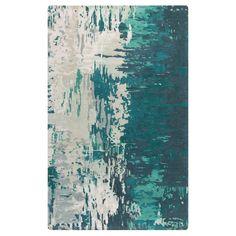 """Misk Area Rug - Teal (Blue), Sage - (3'3"""" x 5'3"""") - Surya"""
