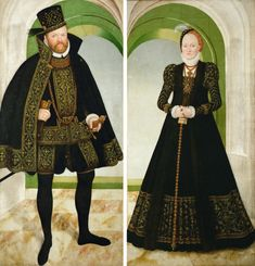 Elizabethan Clothing, Elizabethan Era, Renaissance, Female Portrait, Female Art, Anne Of Denmark, German Outfit, Lucas Cranach, German Fashion