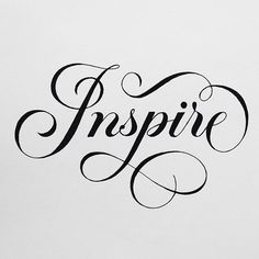 """""""Inspire"""" by @tanyacherkiz #goodtype"""