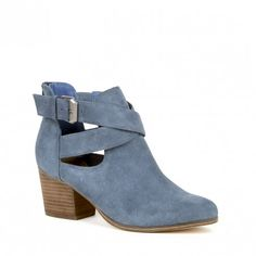 Vista Blue Cut Out Bootie   Azure   Free Shipping on Orders $50+