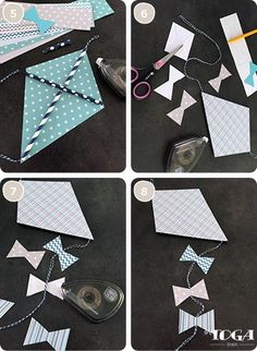 DIY - Comment faire Déco Enfants : Mon Cerf-Volant en Papier ? Conseil Crafts For Girls, Diy For Kids, Decoration Creche, Kites Craft, Good Luck Cards, Craft Desk, Vintage Diy, Diy Projects To Try, Craft Tutorials