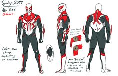 Spider-Man 2099 redesign by Kris Anka Spiderman Suits, Spiderman Art, Amazing Spiderman, Spiderman Sketches, Superhero Suits, Character Modeling, Comic Character, Character Design, Marvel Comics