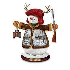 Deer Friends Collectible Snowman Figurine Collection