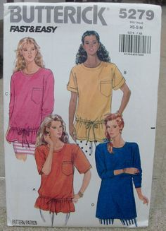 1991 Uncut  Fast and Easy  Butterick Pattern by lovelylovepatterns, $4.00