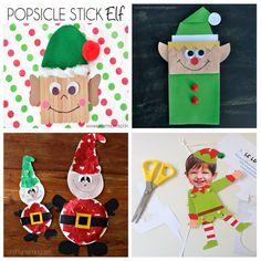manualidades-navidad-niños Daycare Crafts, Fun Crafts For Kids, Toy Craft, Craft Box, Winter Activities, Toddler Activities, Paper Toys, Paper Crafts, Christmas Decorations