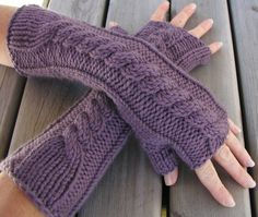 Free Knitting Pattern - Kumara Arm Warmers from the Gloves and