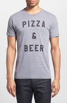 The Poster List  Pizza  amp  Beer  Graphic T-Shirt available at   bc8108e3a31