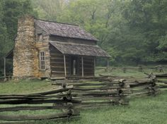 John Oliver Cabin in Cades Cove, Great Smoky Mountains National Park, Tennessee, USA Photographic Print by Adam Jones Cades Cove, Great Smoky Mountains, Cabin Homes, Log Homes, John Oliver, Ideas De Cabina, Cabins And Cottages, Log Cabins, Rustic Cabins